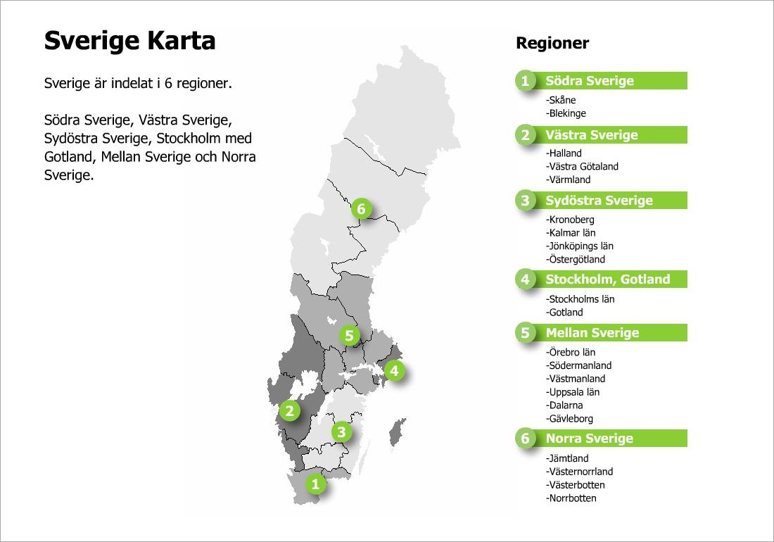 Sverige-Karta